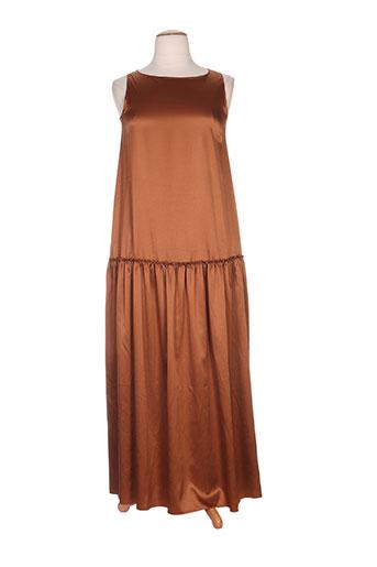 pois robes femme de couleur marron