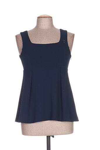 pois chemises femme de couleur bleu