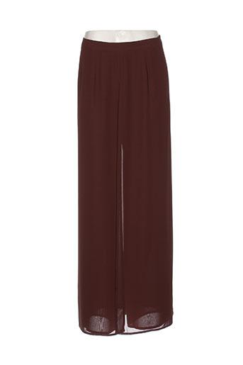 mathieu paris pantalons femme de couleur marron