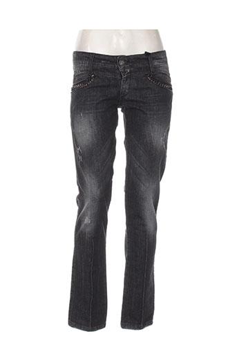 anna biagini jeans femme de couleur noir