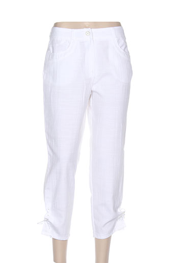 quattro pantacourts femme de couleur blanc