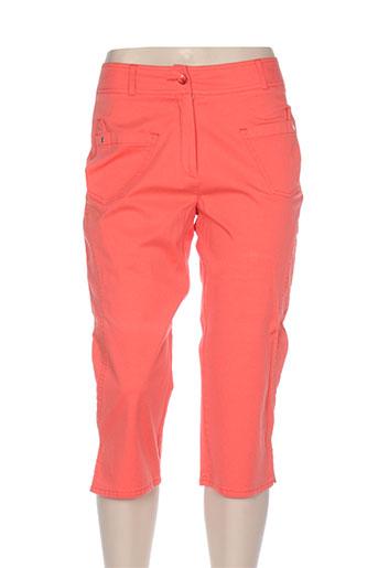quattro pantacourts femme de couleur orange