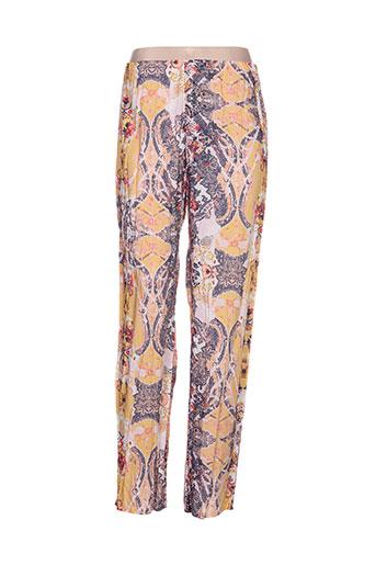 quattro pantalons femme de couleur jaune