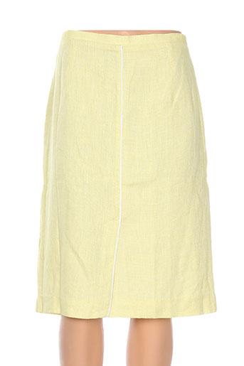 Jupe mi-longue jaune ADOLFO DOMINGUEZ pour femme
