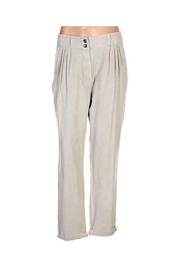 share female pantalons femme de couleur beige