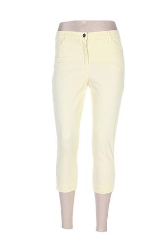 couturist pantacourts femme de couleur jaune