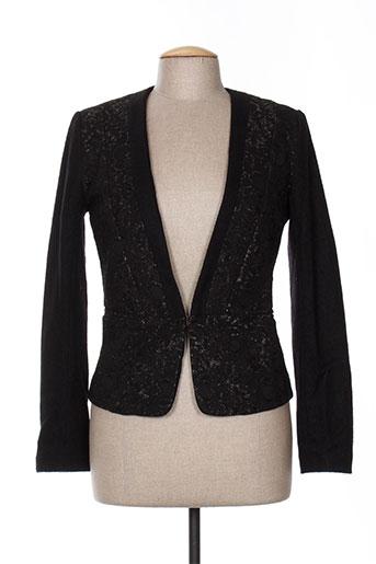 lily white vestes femme de couleur noir