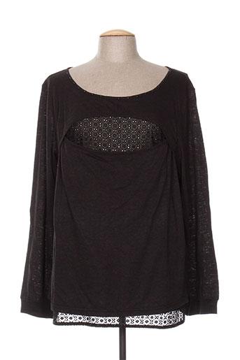 co2 t-shirts femme de couleur noir