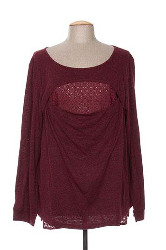 co2 t-shirts femme de couleur rouge