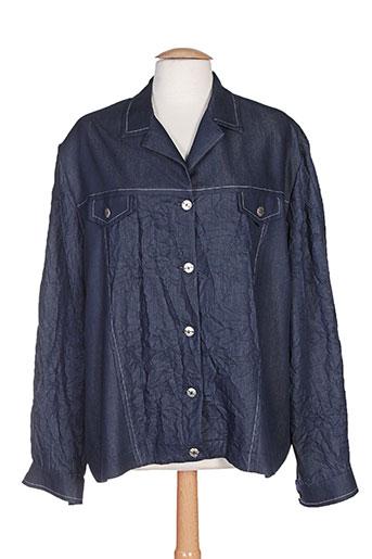 charles lorens vestes femme de couleur bleu