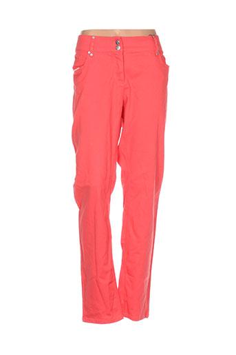 jensen pantalons femme de couleur rouge