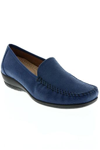 Mocassins bleu BENEXA pour femme