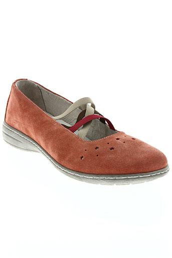 la plume chaussures femme de couleur orange