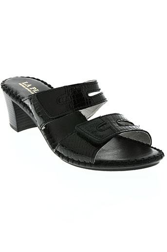 la plume chaussures femme de couleur noir