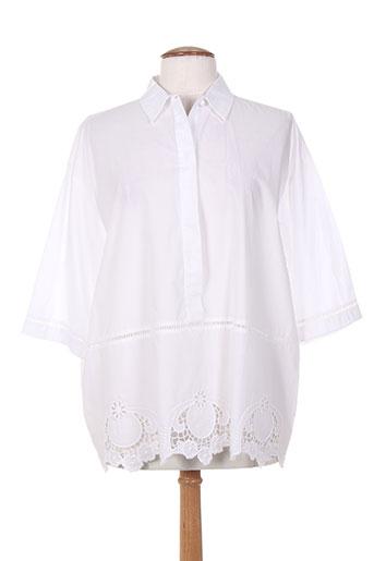 maxmara chemises femme de couleur blanc