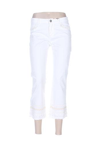 maxmara pantacourts femme de couleur blanc