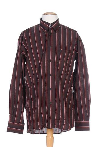 bande originale chemises homme de couleur marron