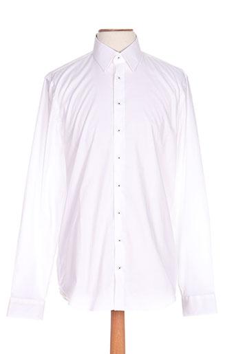 izac chemises homme de couleur blanc