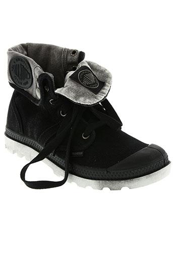 palladium chaussures garçon de couleur noir