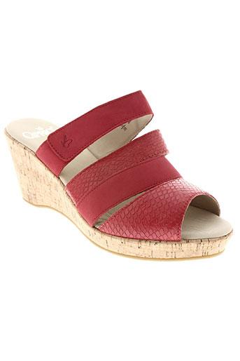 caprice chaussures femme de couleur rouge