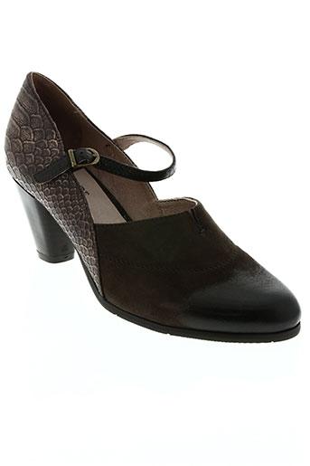 regarde le ciel chaussures femme de couleur marron