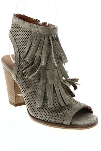 Sandales/Nu pieds gris ALPE pour femme