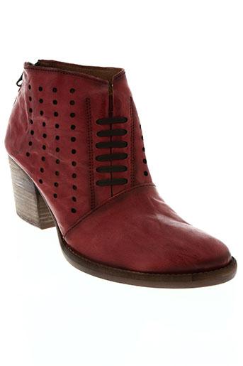 little...la suite chaussures femme de couleur rouge