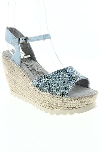 bruma chaussures femme de couleur bleu