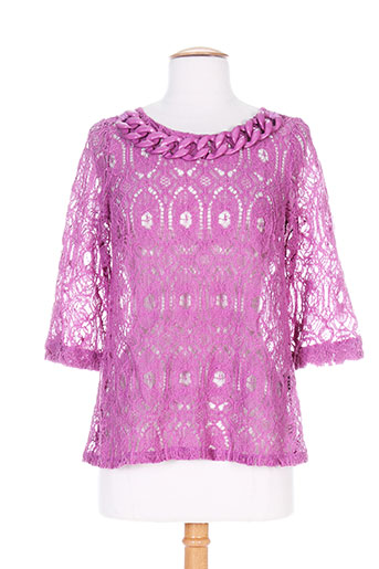 patrick mendes chemises femme de couleur violet