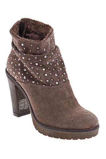 Bottines/Boots beige HOOPER SHOES pour femme
