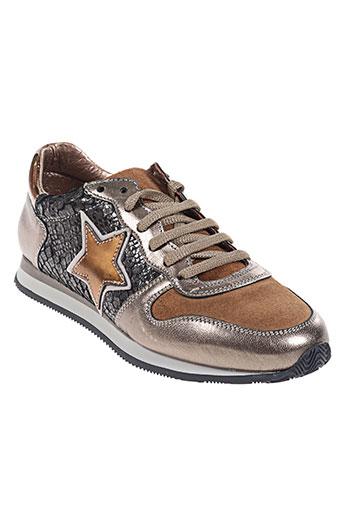 coco et abricot chaussures femme de couleur marron