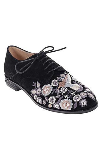 lundi bleu chaussures femme de couleur noir