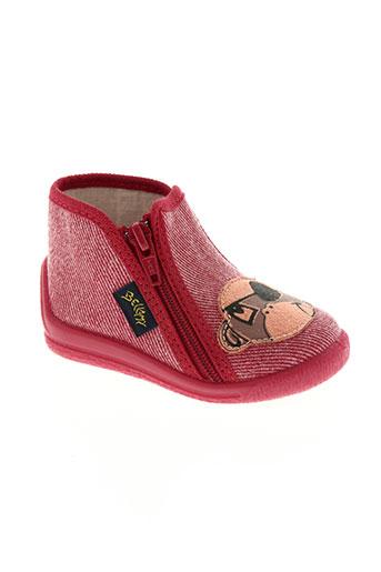 bellamy chaussures garçon de couleur rouge