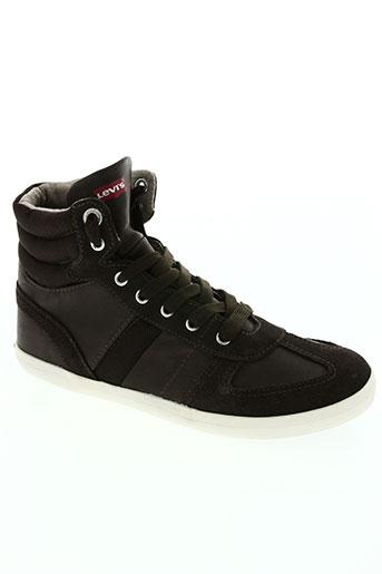 levis chaussures garçon de couleur marron