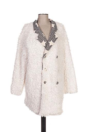 zoe la fee manteaux femme de couleur blanc