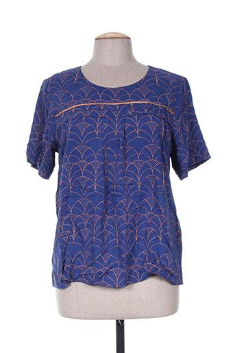 acoté chemises femme de couleur bleu