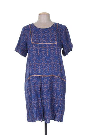 acoté robes femme de couleur bleu