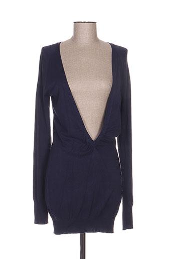 Pull tunique bleu MISS SIXTY pour femme