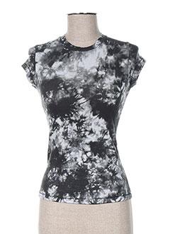 T-shirt manches courtes noir ANNE TURTAUT pour femme