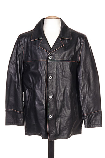 partner's manteaux homme de couleur noir