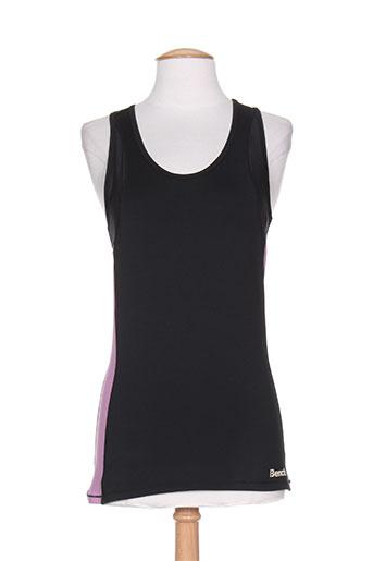 T-shirt manches courtes noir BENCH pour femme