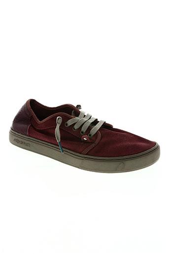 satorisan chaussures homme de couleur rouge