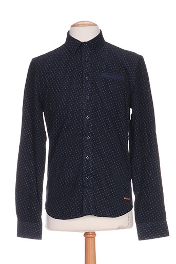 redsoul chemises homme de couleur bleu