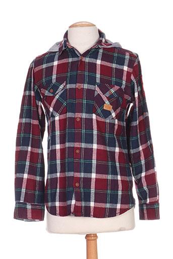 tiffosi chemises garçon de couleur rouge