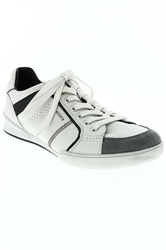 geox chaussures homme de couleur blanc