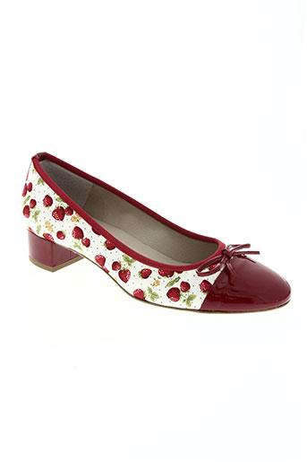 brenda zaro chaussures femme de couleur rouge