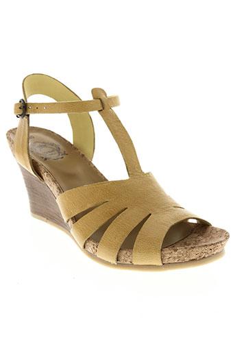 kickers chaussures femme de couleur jaune