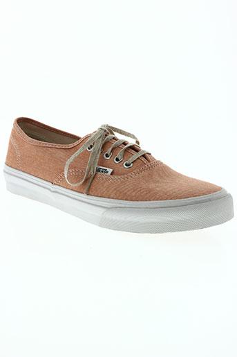 vans chaussures femme de couleur orange