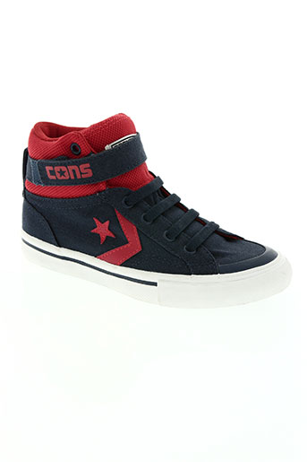 converse chaussures garçon de couleur bleu