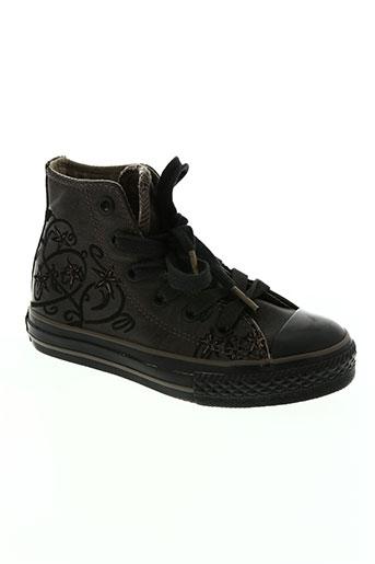 converse chaussures fille de couleur marron